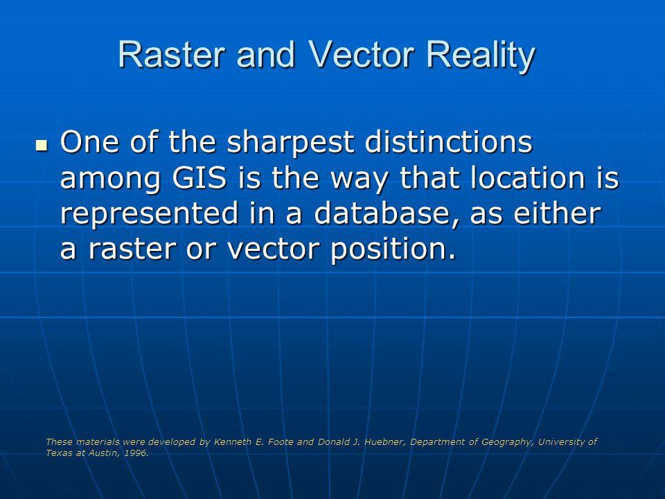 Raster and Vector Reality