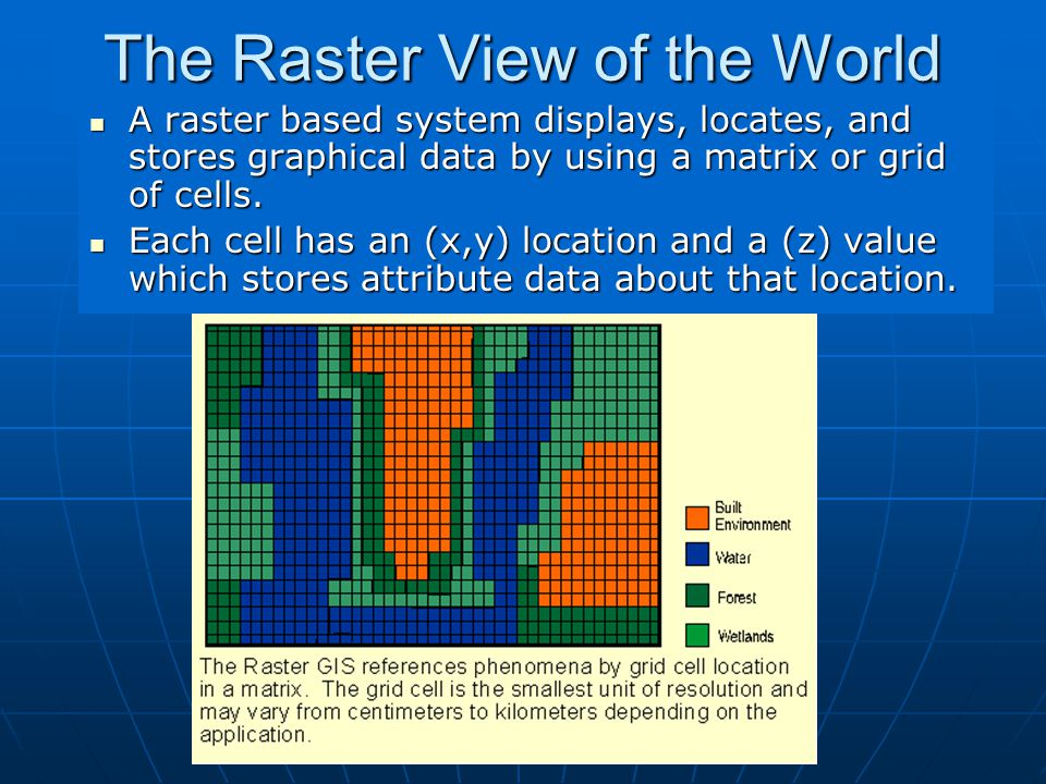 The Raster View of the World