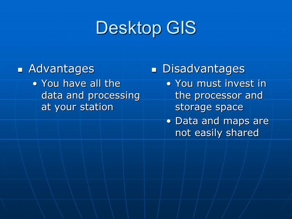 Desktop GIS Advantages Disadvantages