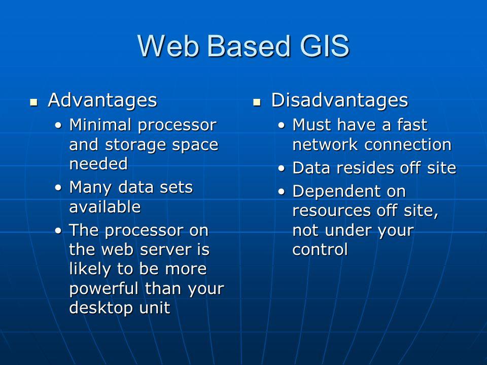 Web Based GIS Advantages Disadvantages