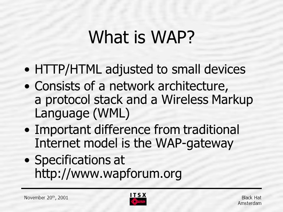 What is WAP HTTP/HTML adjusted to small devices