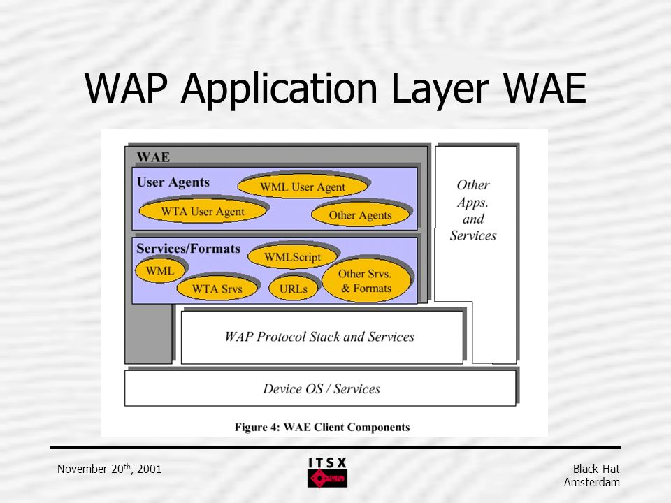 WAP Application Layer WAE