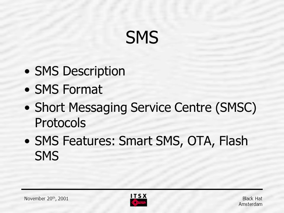 SMS SMS Description SMS Format