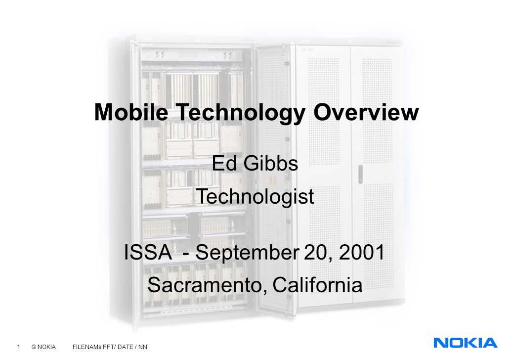 Mobile Technology Overview