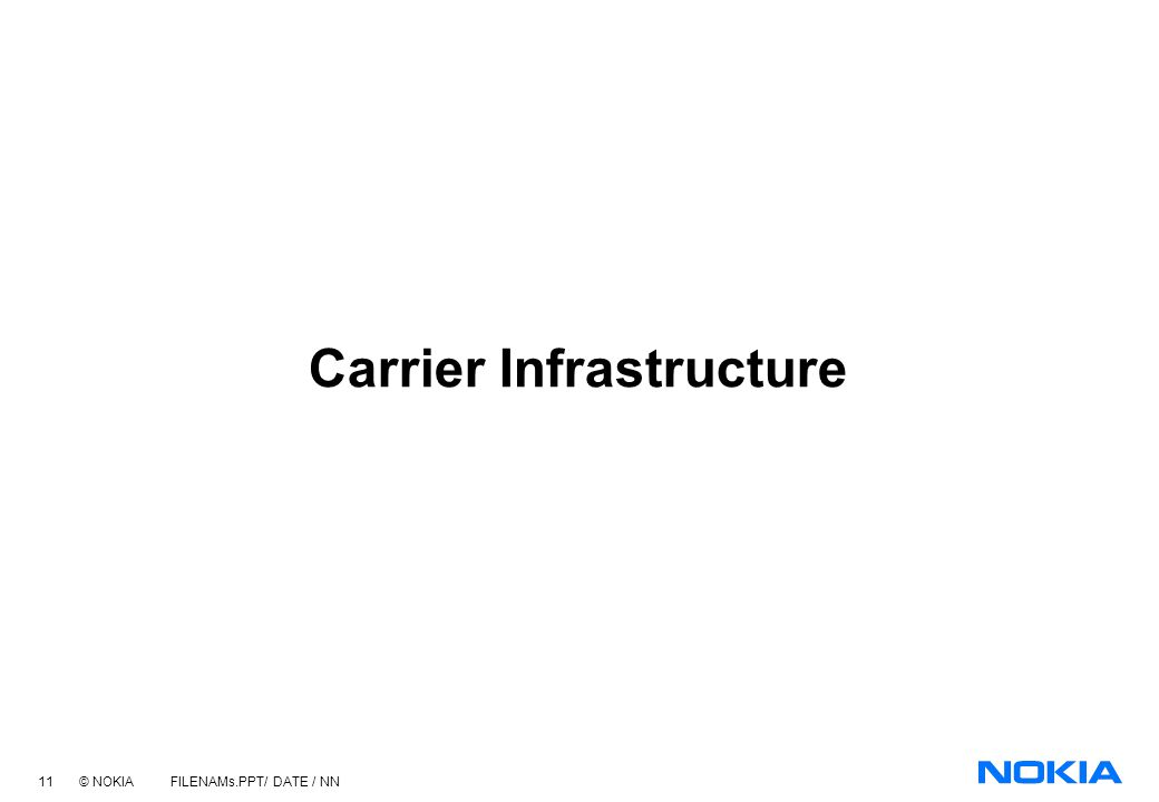 Carrier Infrastructure