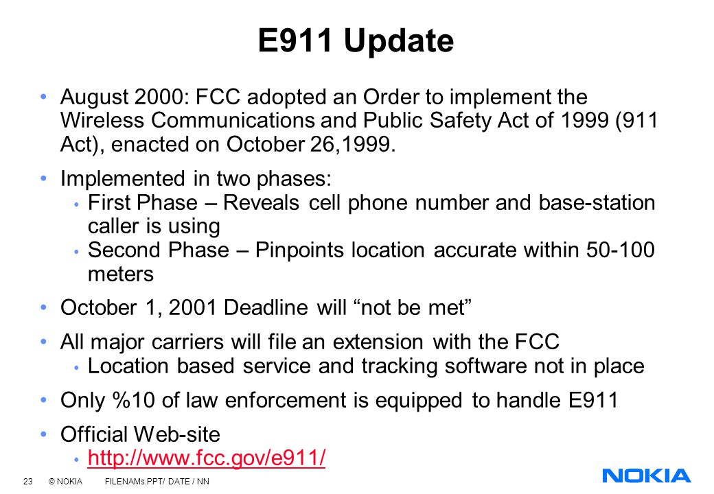 E911 Update