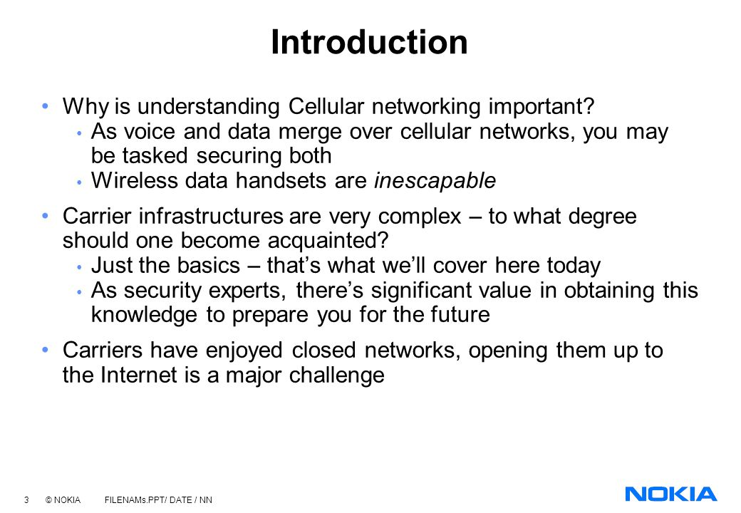 Introduction Why is understanding Cellular networking important