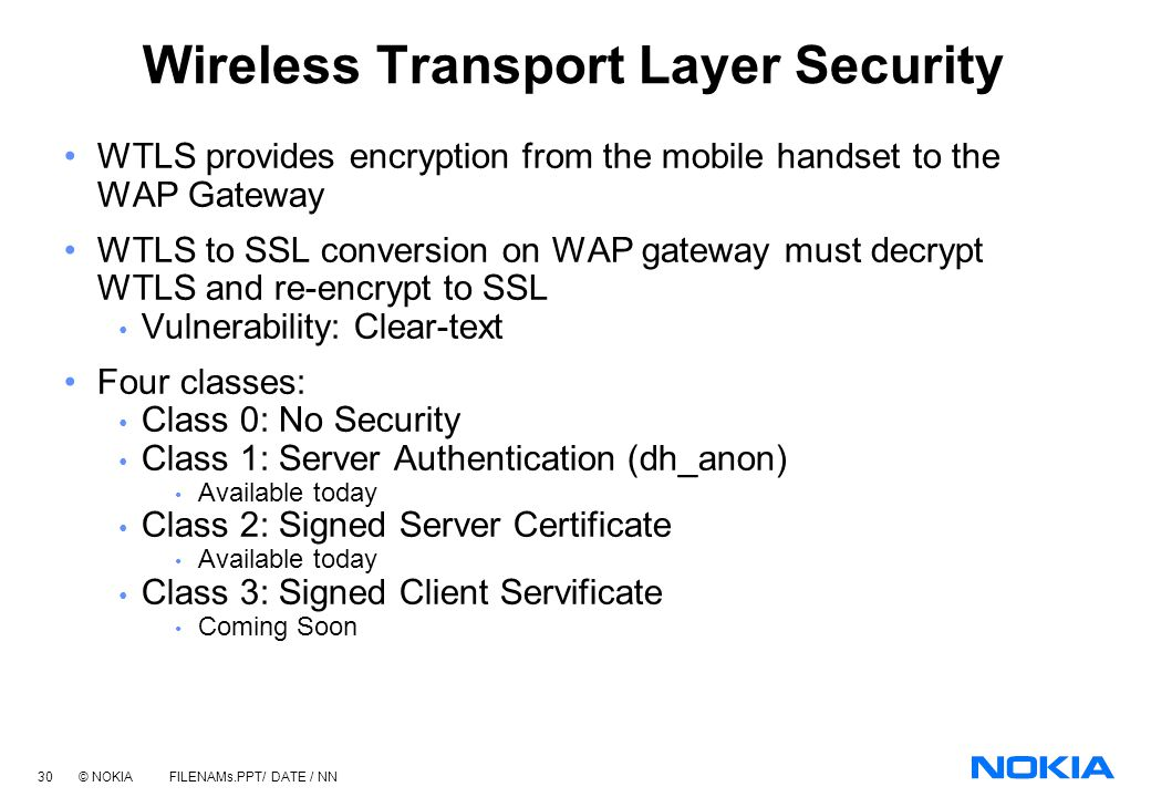 Wireless Transport Layer Security