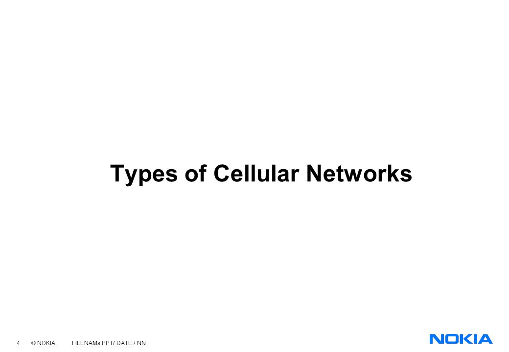 Types of Cellular Networks
