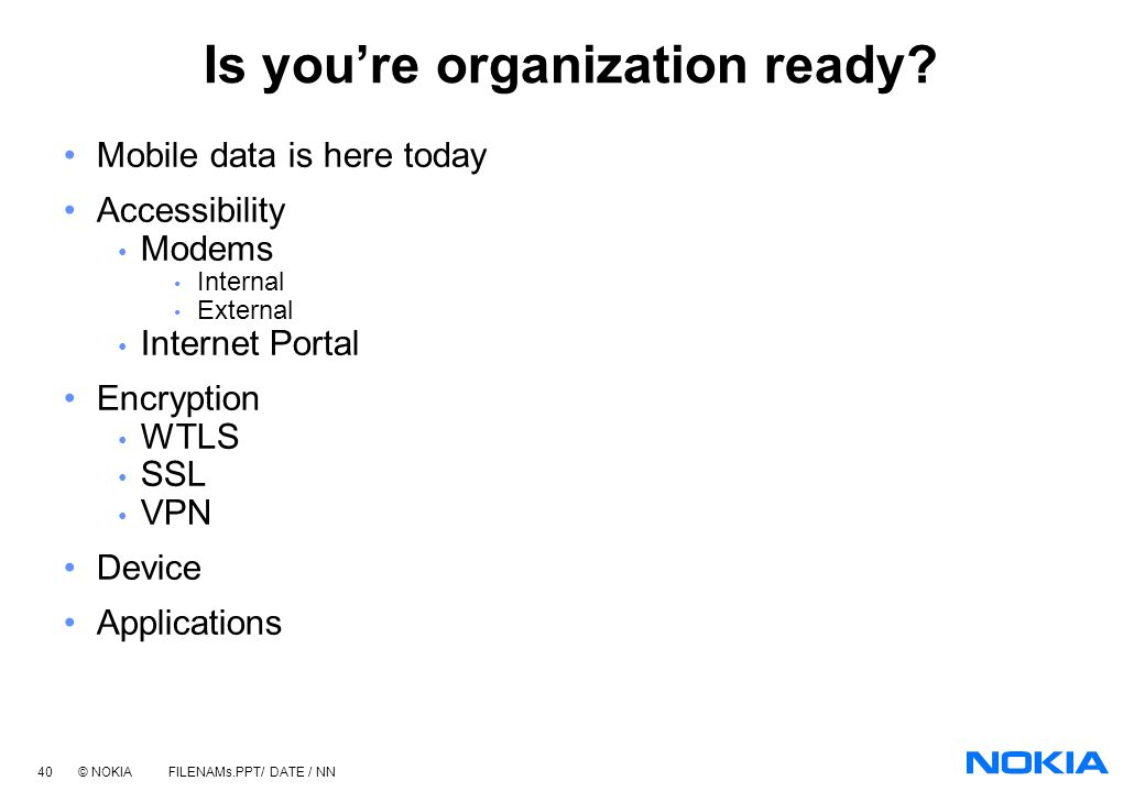 Is you're organization ready