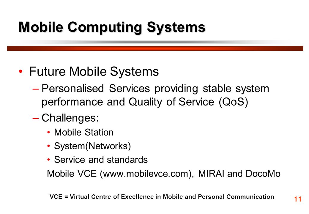 Mobile Computing Systems