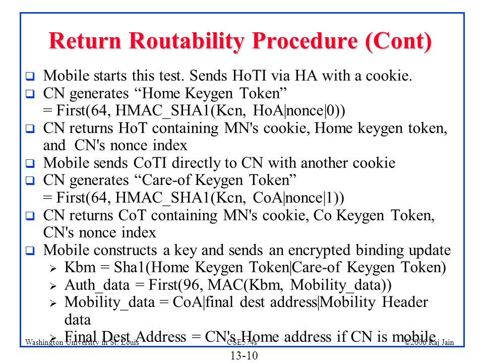 Return Routability Procedure (Cont)