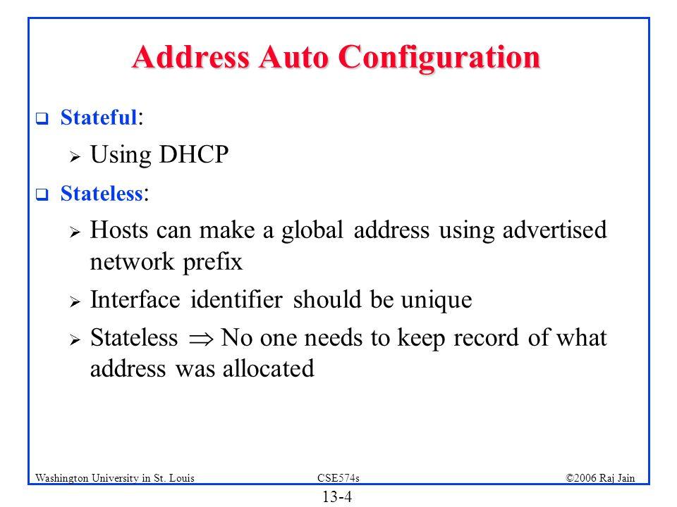 Address Auto Configuration