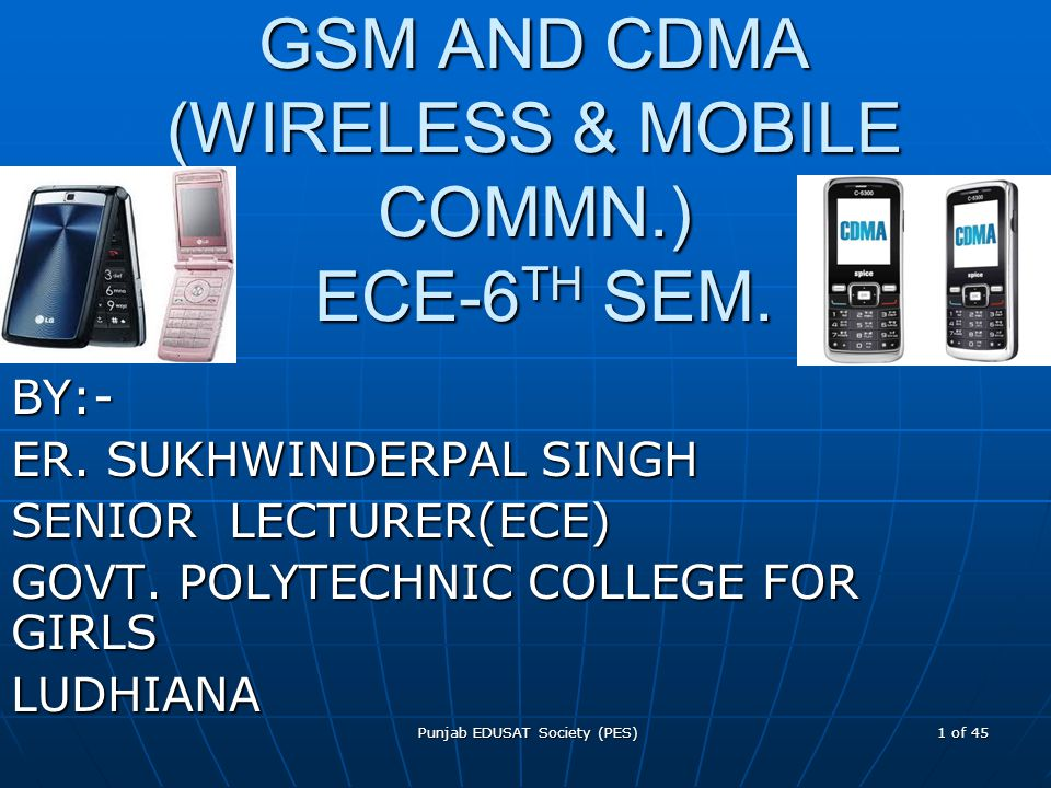 GSM AND CDMA (WIRELESS & MOBILE COMMN.) ECE-6TH SEM.