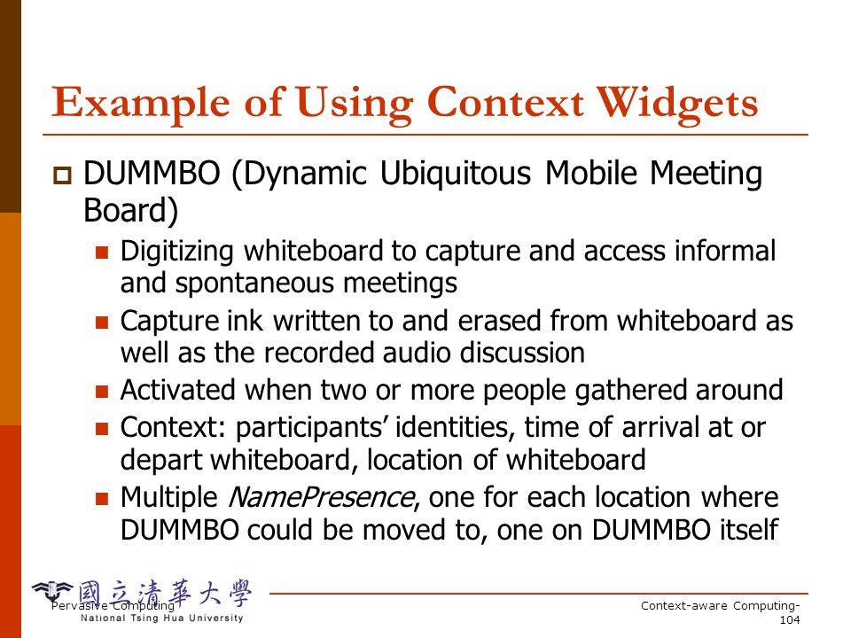 Context Implementation Details