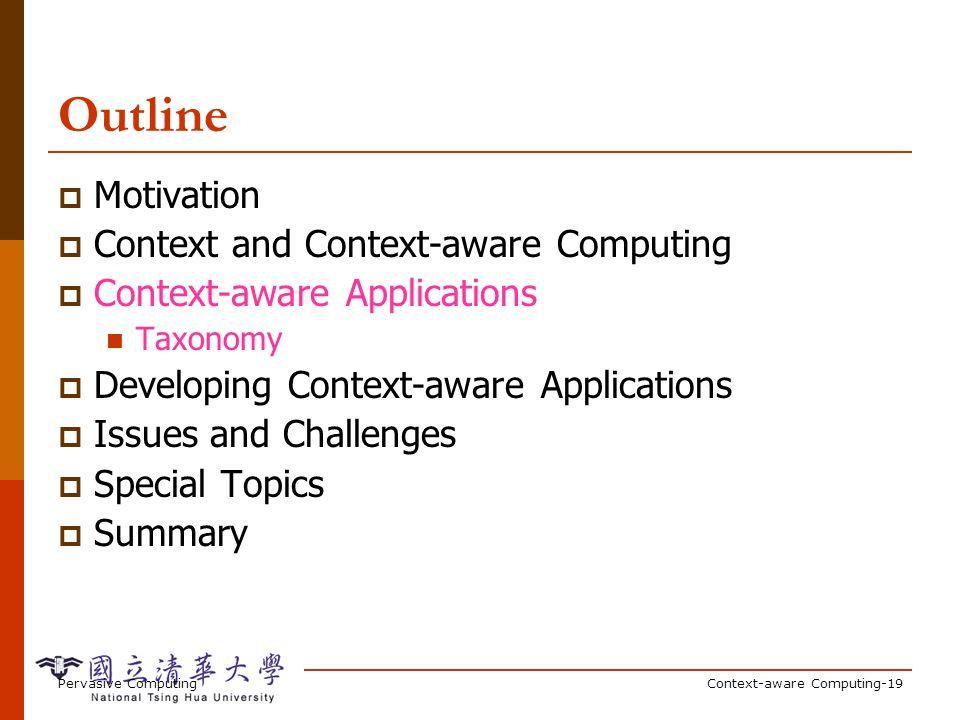Examples of Context-awareness