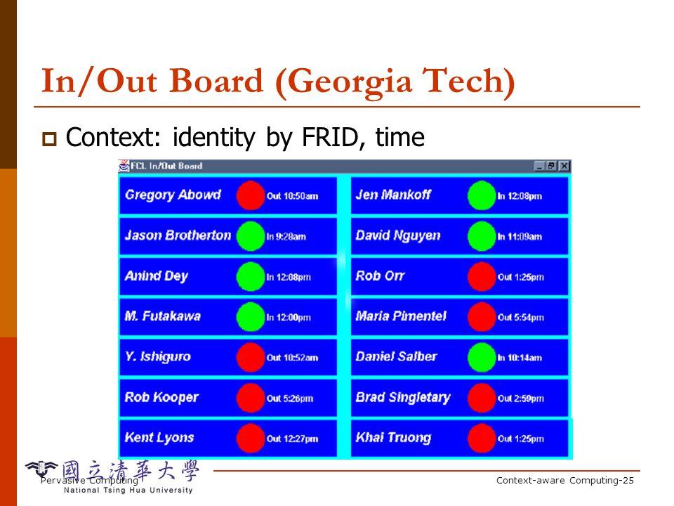 DUMMBO (Georgia Tech) Dynamic Ubiquitous Mobile Meeting Board: