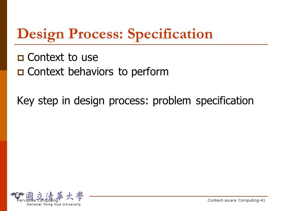 Design Process: Acquisition
