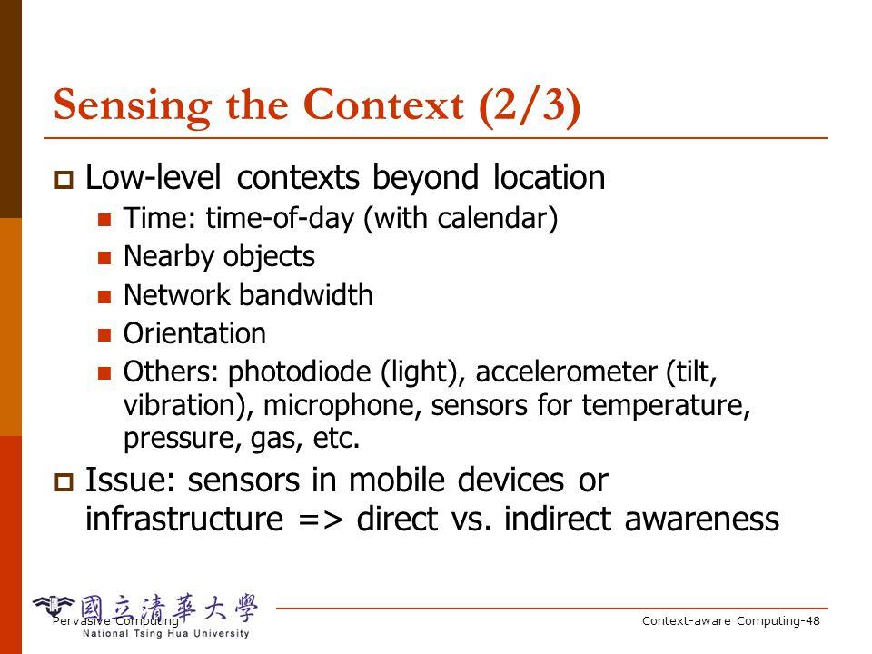Sensing the Context (3/3)