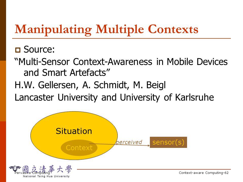 Direct/Indirect Context-Awareness