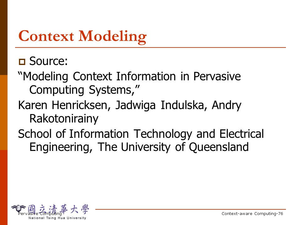 Characteristics of Context Information