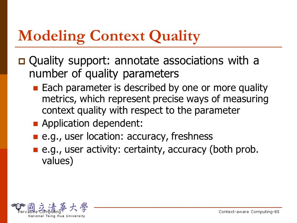 Example with Context Quality