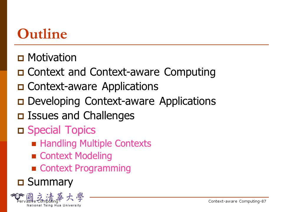 Context Toolkit The Context Toolkit: Aiding the Development of Context-Enabled Applications D. Salber, A.K. Dey, G.D. Abowd.