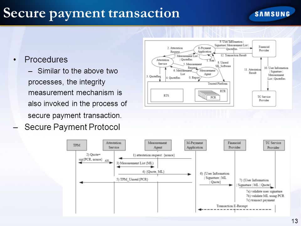 Secure payment transaction