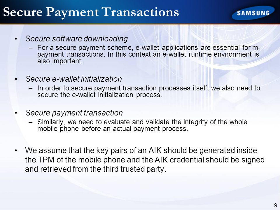 Secure Payment Transactions