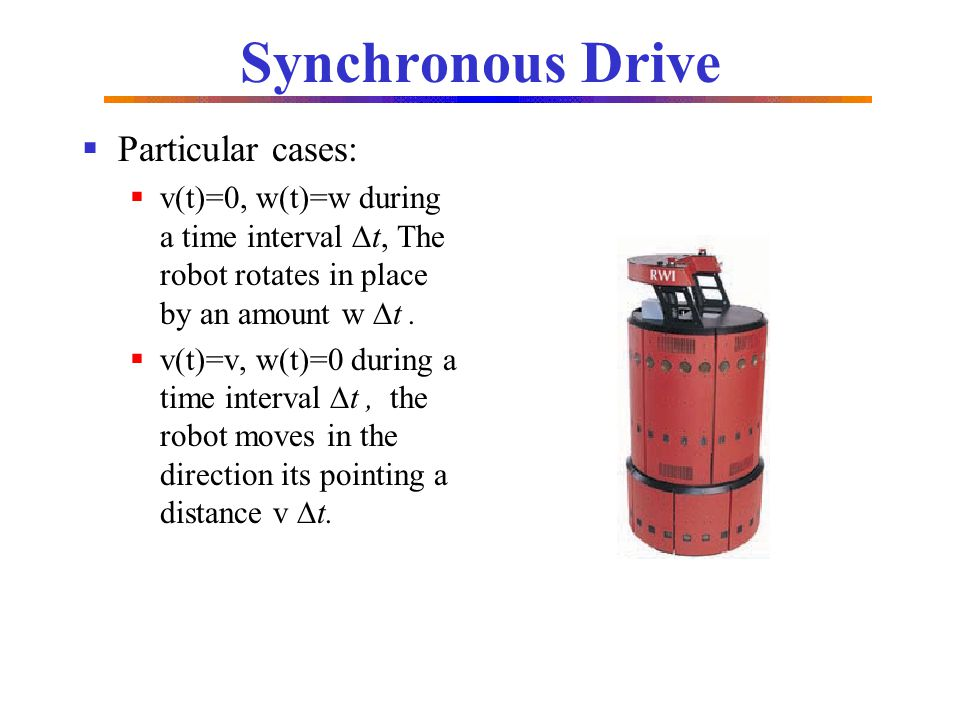 Synchronous Drive Particular cases: