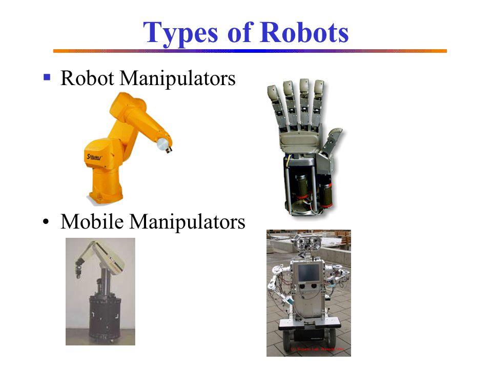 Types of Robots Robot Manipulators Mobile Manipulators