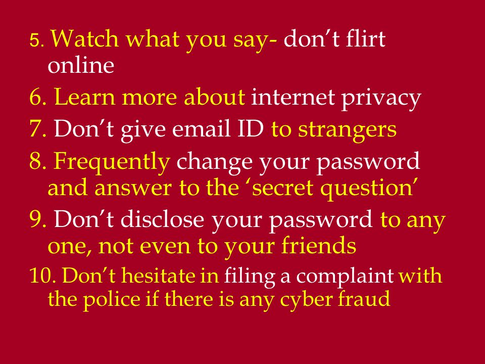6. Learn more about internet privacy