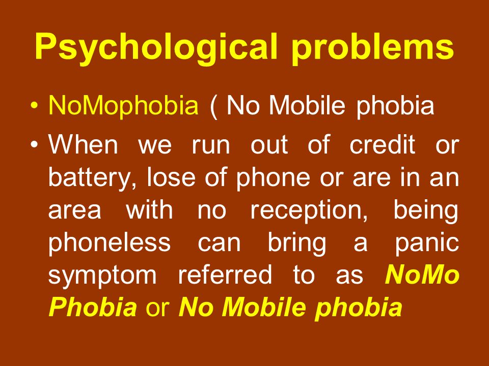 Psychological problems