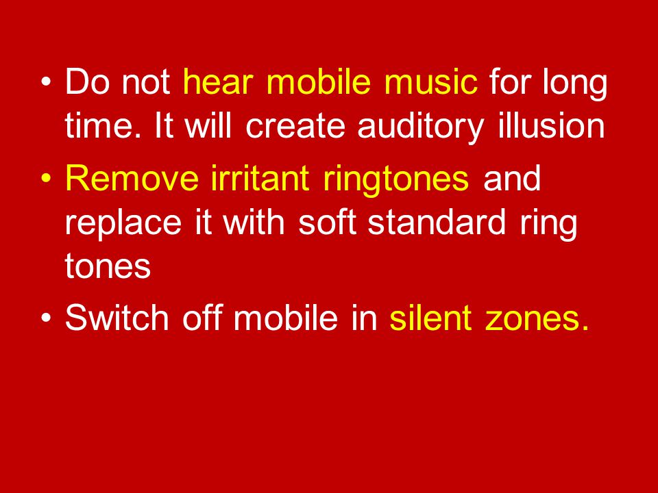 Do not hear mobile music for long time