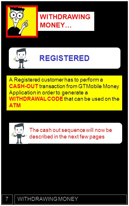 REGISTERED WITHDRAWING MONEY…