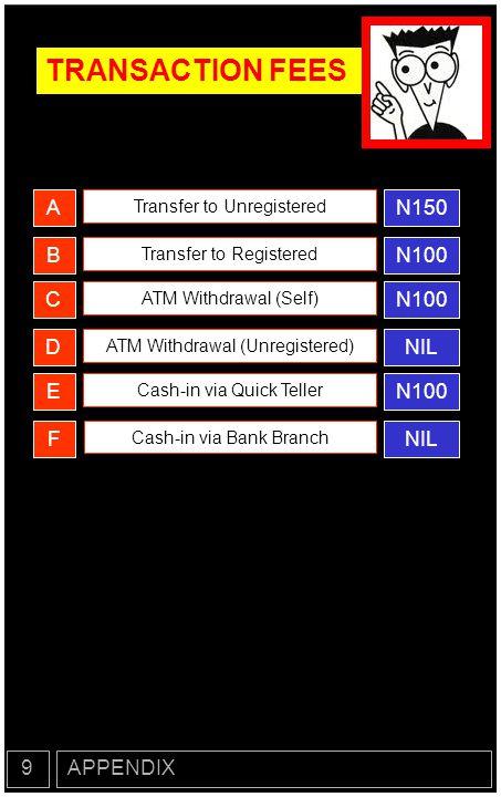 TRANSACTION FEES N150 A N100 B N100 C NIL D N100 E NIL F 9 APPENDIX