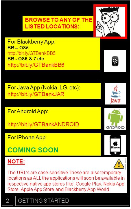COMING SOON BROWSE TO ANY OF THE LISTED LOCATIONS: For Blackberry App: