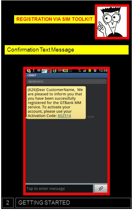 Confirmation Text Message