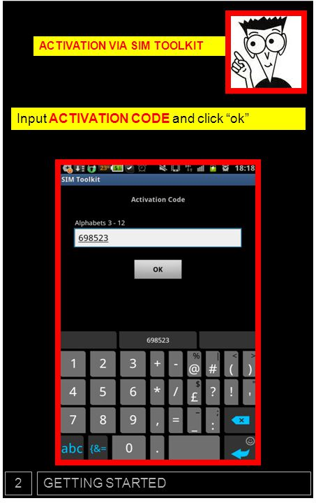 Input ACTIVATION CODE and click ok