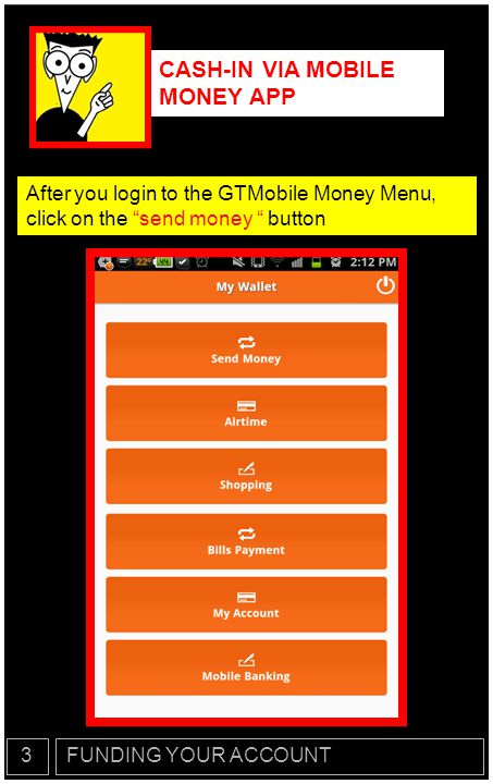 CASH-IN VIA MOBILE MONEY APP