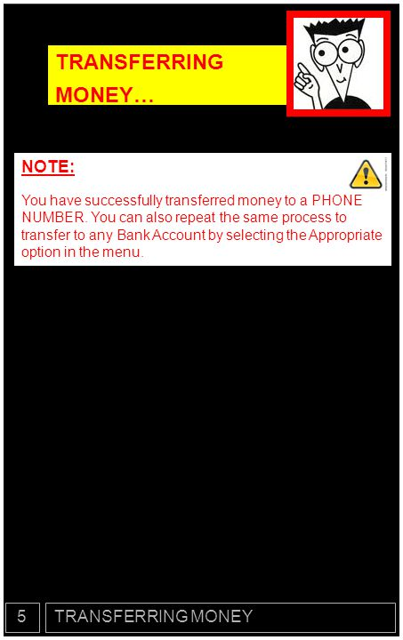 TRANSFERRING MONEY… NOTE: 5 TRANSFERRING MONEY