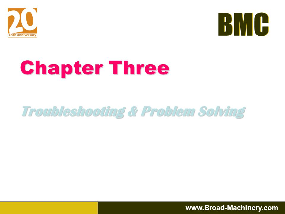Chapter Three Troubleshooting & Problem Solving