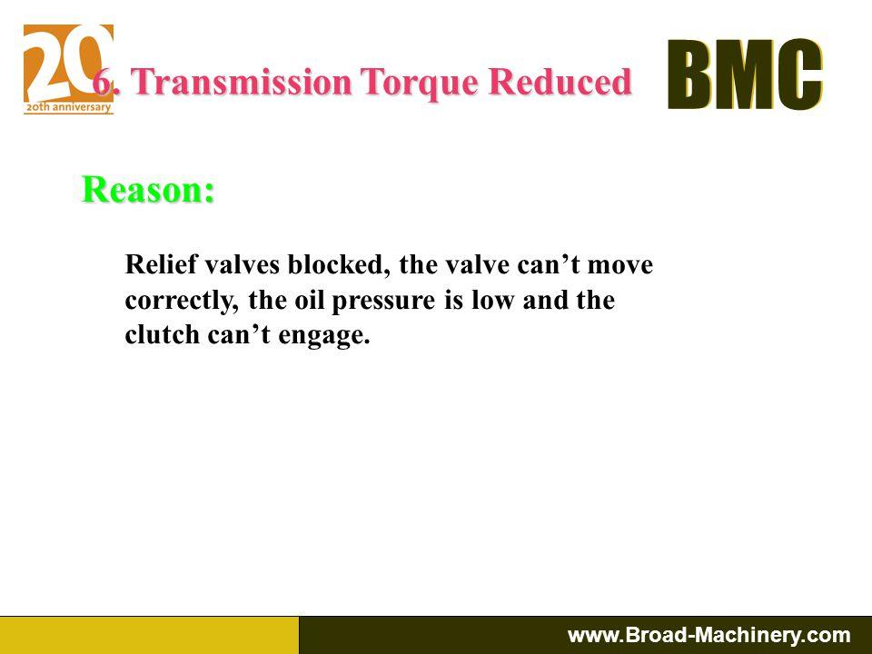 6. Transmission Torque Reduced