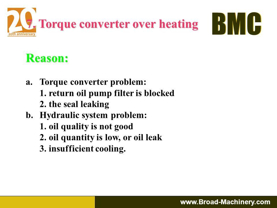 7. Torque converter over heating