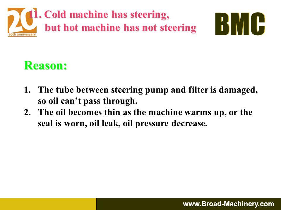 Reason: 11. Cold machine has steering,