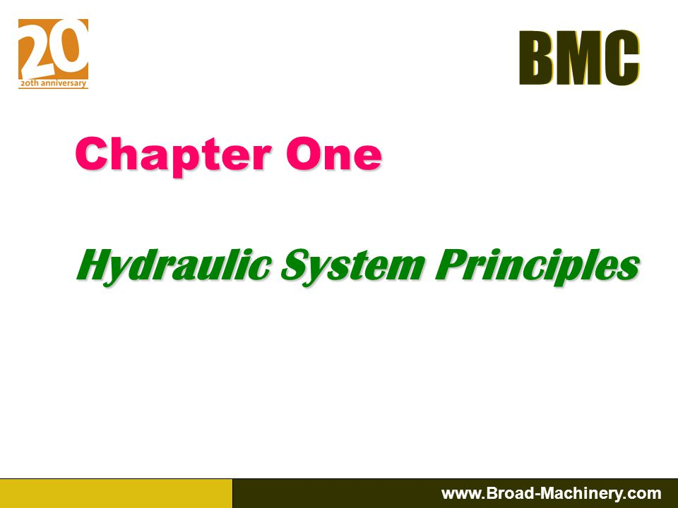 Chapter One Hydraulic System Principles