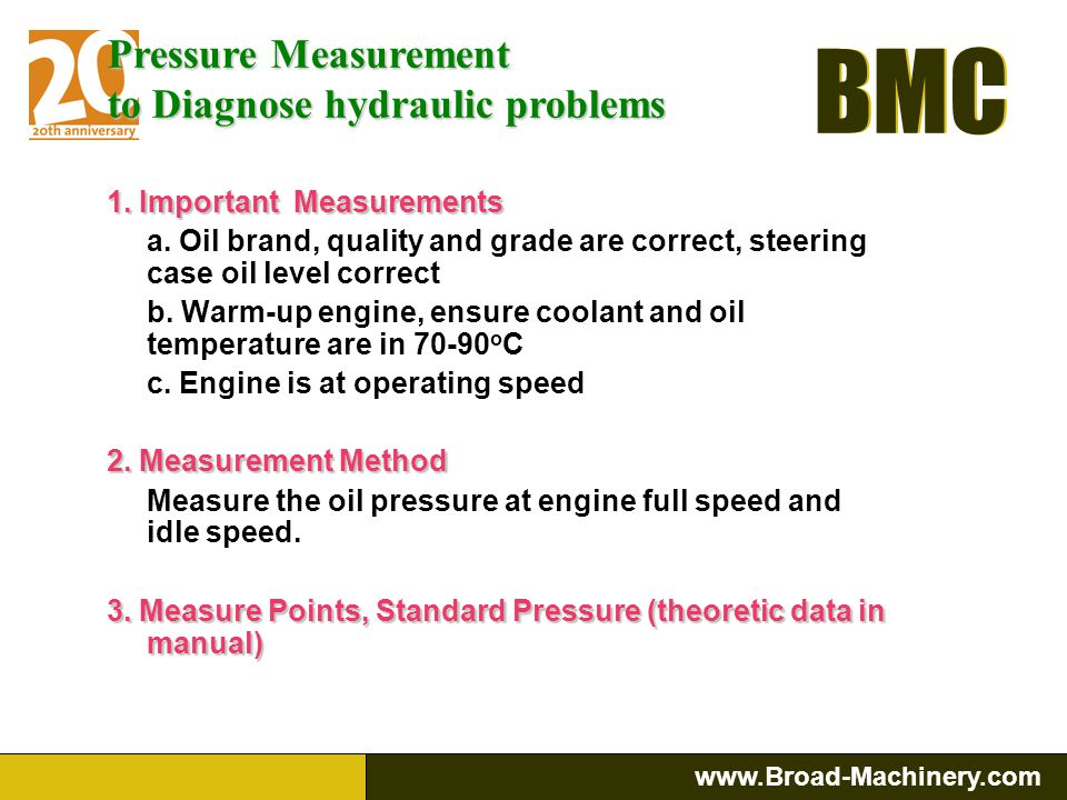 to Diagnose hydraulic problems