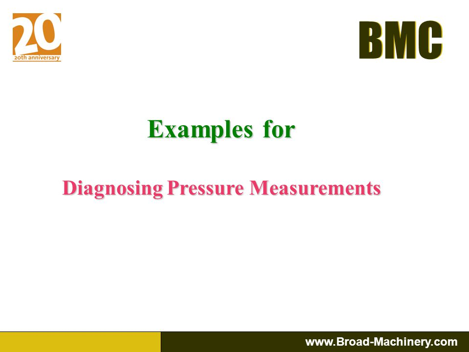 Diagnosing Pressure Measurements