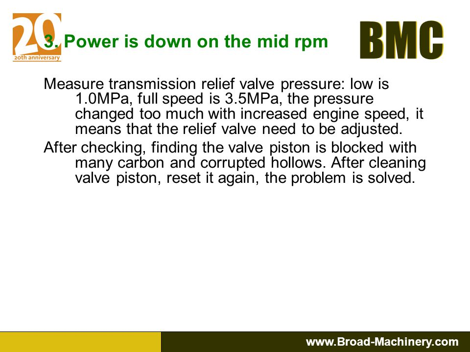 3. Power is down on the mid rpm