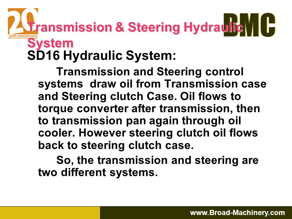 Transmission & Steering Hydraulic System